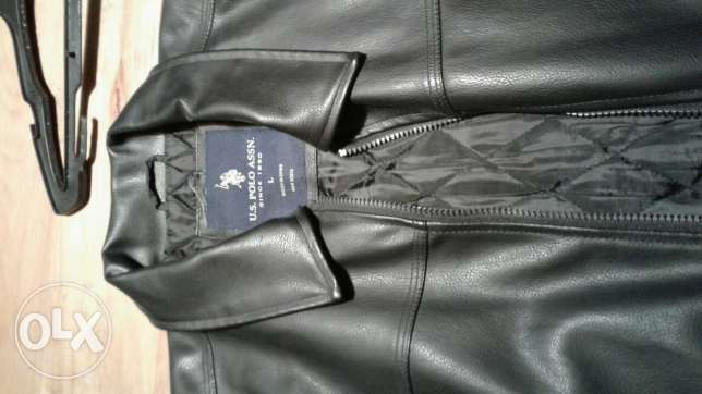 Leather jacket US POLO