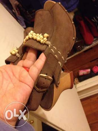 new natural leather saboh made in italy, size37 الدقى  -  3