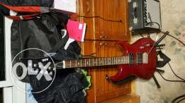 ASH Electric Guitar with amplifier