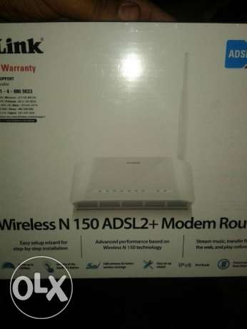 راوتر -DLink Wireless N 150 ADSL2 + Modem Router جديد متبرشم
