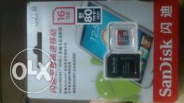 SanDisk Ultra Class 10 micro SD card 16GB - New