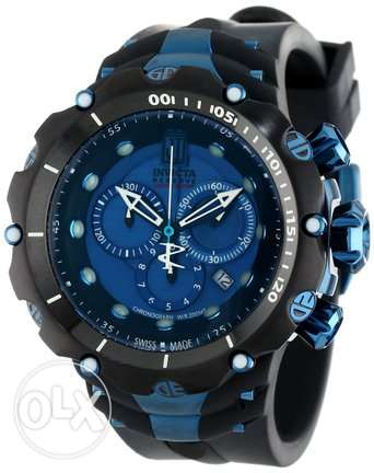 Invicta Men's 14417 Jason Taylor Reserve Chronograph Blue Dial Black P