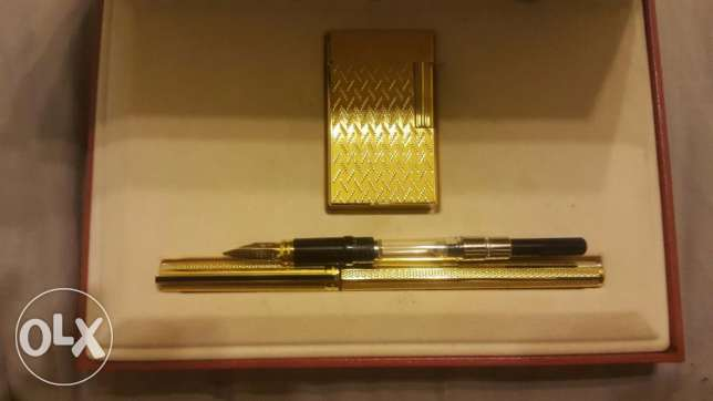 dupont gold plated set pen and large lighter القاهرة -  5