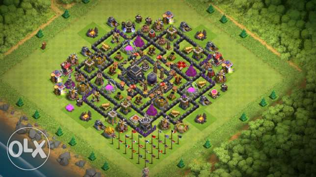 Calsh of clans account town hall 9 new for sale