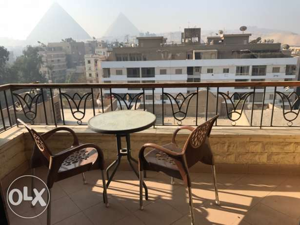 Amazing view from a sunny apartment (Al Haram-Remaya square)