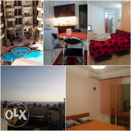 Fully furnished 1 bedroom for sale in ParadiseHill الغردقة -  1