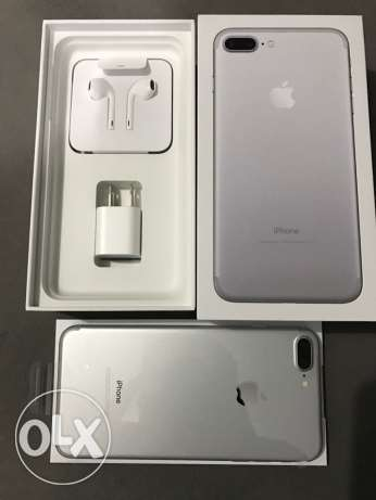"iPhone 7 plus 128g silver or black ""unlocked "" brand new بنها -  6"