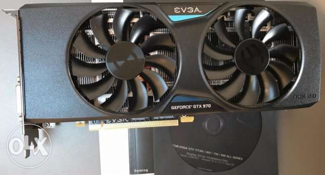 EVGA GeForce GTX 970 FTW ACX2 4GB GDDR5 256bit PCI-E Graphic Card مركز الجيزة -  1