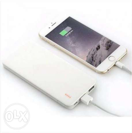 P-N 10000 mAh 5V 2.1A Power Bank android & Iphone- white باور بانك