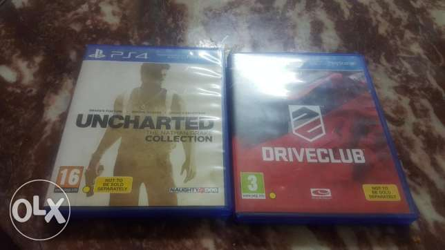 بيع لعبتين. Ps4 Driveclub&unscarted collection