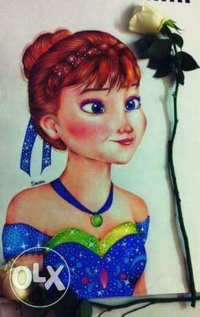 drawing of anna frozen