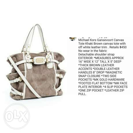Used once as new michael kors gansevoort large tote