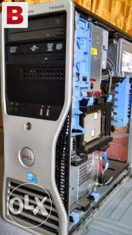 للالعاب الكبيرهworkstation dell t5500 xeon e5620 cash24m ram24g fx 580