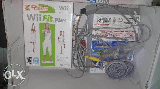 Wii Fit + wii Board + wii Console and cables