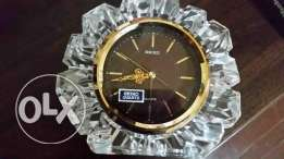 crystal antiques seiko clock