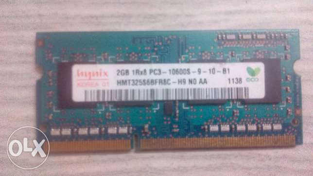 رامة لابتوب 2جيجا أصلية Laptop Memory 2G DDR3 Hynix