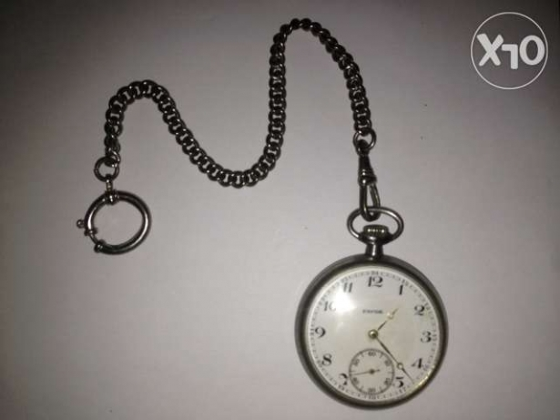 Brand Favor Pocket watch very old Silver with jewels