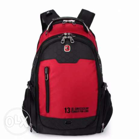 "Swissgear Laptop 15.6"" Laptop Travel Red SwissGear Waterproof Backpack"