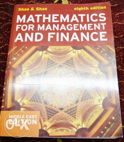 mathematics for management and finance