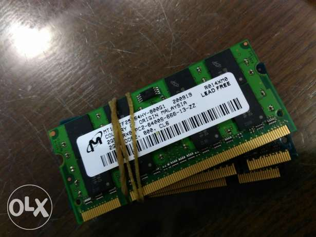 Ram 2gb ddr2 laptop حالتهم زيروو