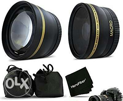 58mm Lens Attachment for all 58mm Lenses 3 Tele & Wide Angle Set