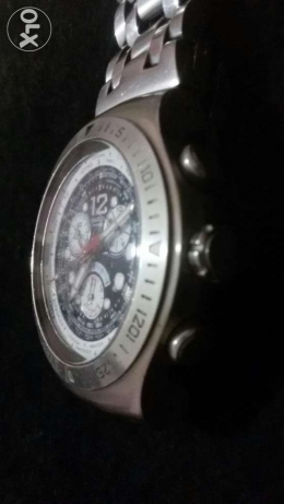 swatch irony stainless steel patented water-resistant four 4 jewels