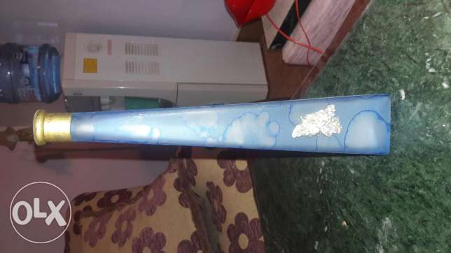 2 Italian vase with flower art silver plated
