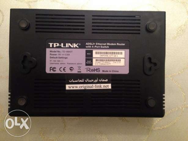 Tp-Link ADSL2 + Ethernet Modem Router With 4 Port Switch الإسكندرية -  2