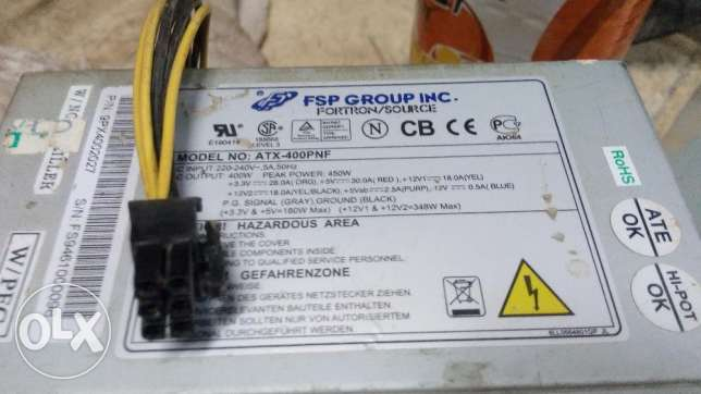 Power supply 400w. 6 pin