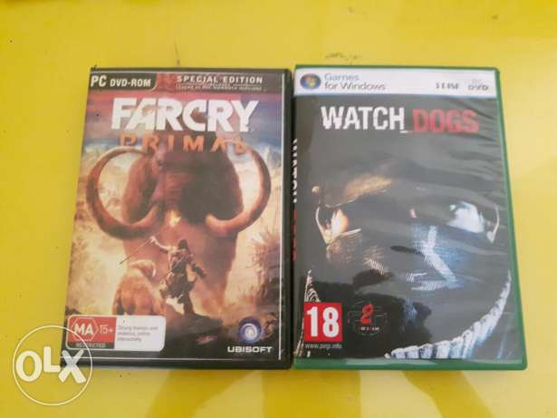 Watch dogs and farcry primal pc games