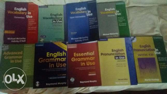 English grammer in use and vocabulary and pronounciatian all parts