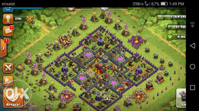 clash of clans town hall 10 and clash royal level 10