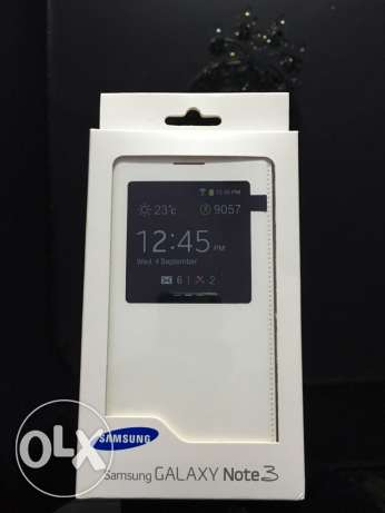 original flip cover for samsung galaxy note 3 - white