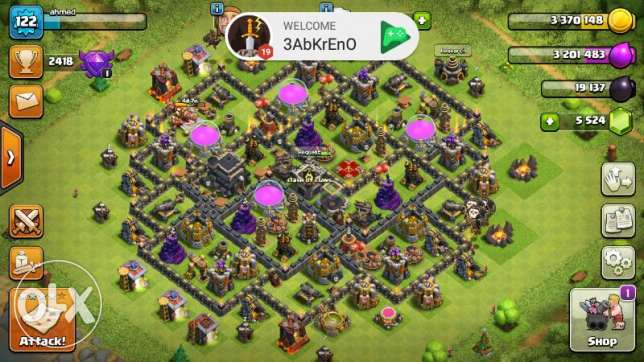 Clash of clans account with other games for sale