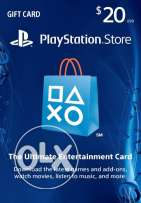 PSN 20 dollars card