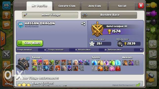 Clash of clans th8 95% max 6 أكتوبر -  2