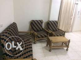 For rent large furnished three bedroom apartment in Hadaba .2000 LE