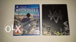 Watch Dogs 2 + Steel Case for PS4 New - Sealed