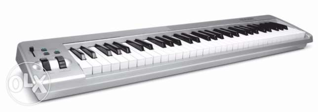 M-Audio Keystation 61ES 61-Key USB MIDI Keyboard Controller with Semi- المعادي -  1