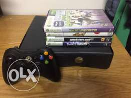 slim xbox 360 250gb with great games