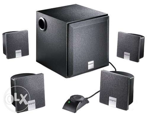 Creative Labs Inspire 4400 4.1 Computer Speakers (5-Speaker, Black)