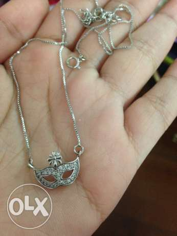 italian silver mask necklace