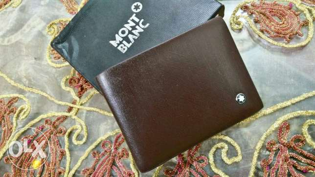 Mont blanc brown wallet