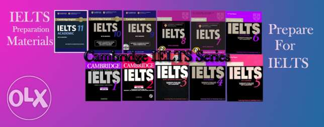 The official IELTS books from Cambridge From 1 to 12 ( Soft copy )