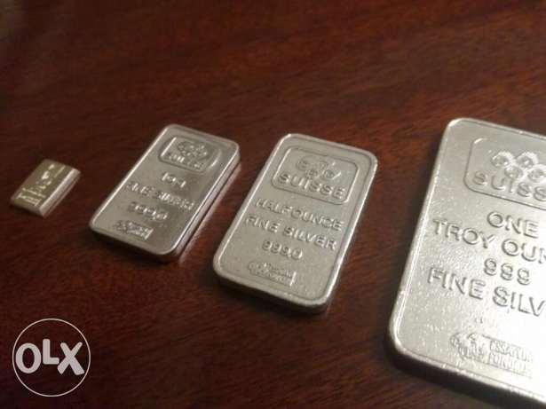 .999 Swiss Fine Silver Bars