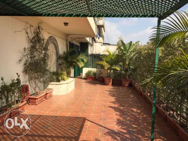 Penthouse for rent semi furnished in zamalek with big terrace