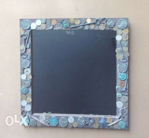 mirror with coins