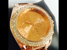 Gold rose women watch
