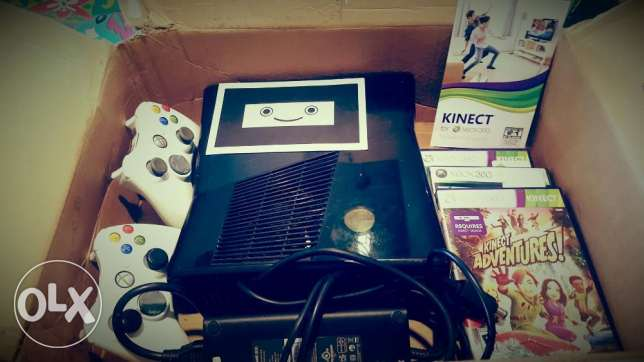 Xbox360Superslim250G with kinect,AC generator,5org games,2cont,fromNYC