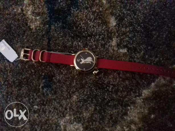 Modern classics women's watch (red) مدينة نصر -  1